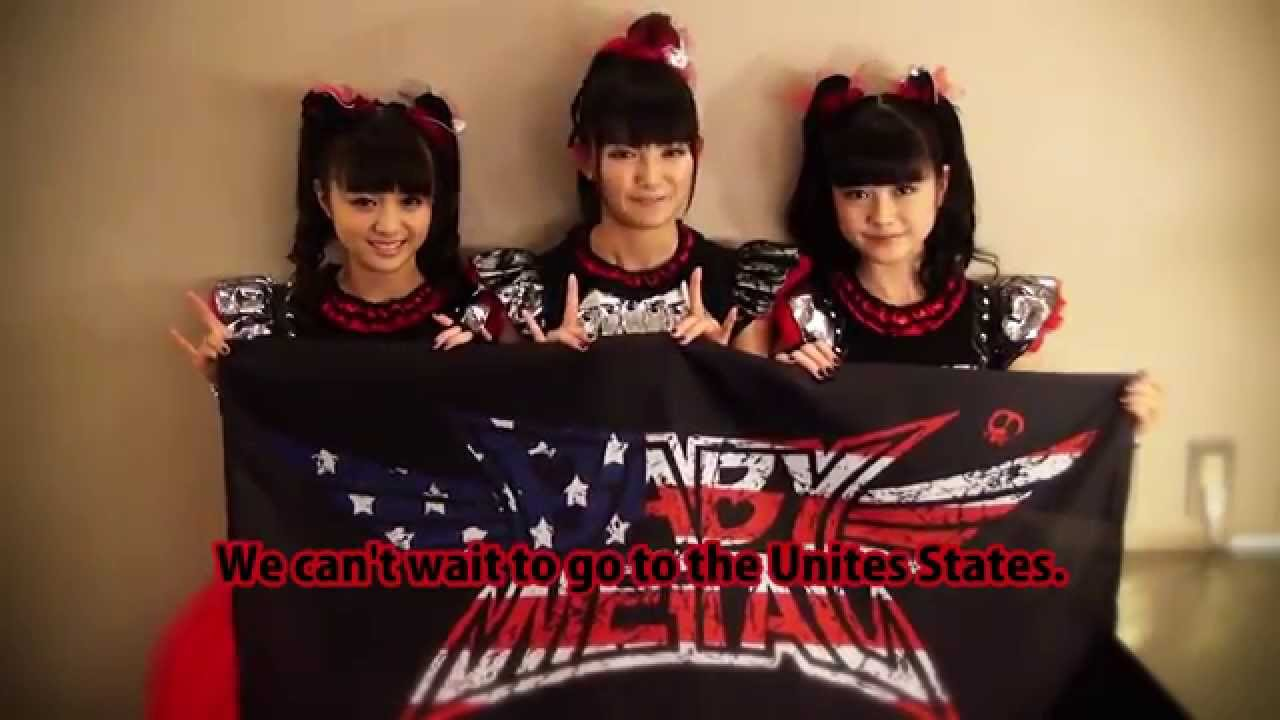 BABYMETAL video message for the United States