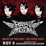 BABYMETAL announces return to USA for New York concert