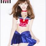 AKB48's Haruna Kojima models new Sailor Moon bras