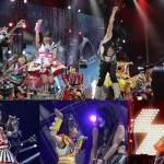 Momoiro Clover Z performs with KISS at Tokyo Dome
