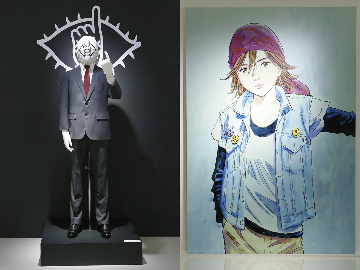 """This is MANGA – The Art of NAOKI URASAWA,"" exhibition at JAPAN HOUSE Los Angeles. (Photo by Ryan Miller/JAPAN HOUSE Los Angeles)"